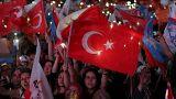إردوغان يعلن فوزه في الانتخابات ويقول إن الأتراك منحوه التفويض