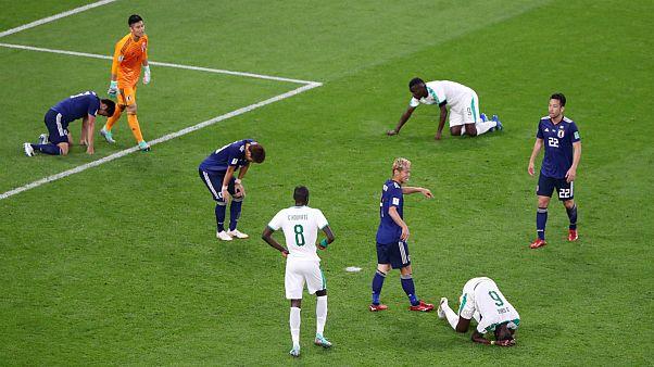 ژاپن و سنگال با تساوی مقابل یکدیگر امیدهایشان برای صعود را حفظ کردند