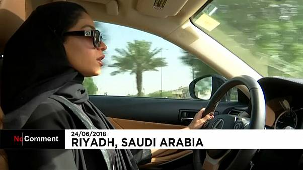 Saudi psychologist drives herself to work for first time in 21-year career as ban lifted