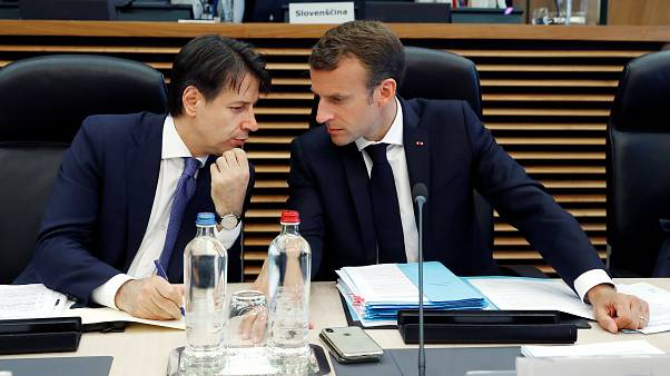 Итальянский премьер Конте и президент Франции Макрон