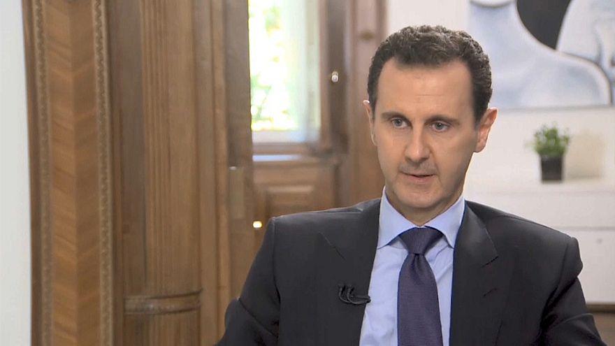 الأسد خلال المقابلة
