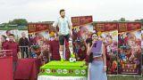 Ruslardan Messi'nin doğum günü için dev pastalı kutlama