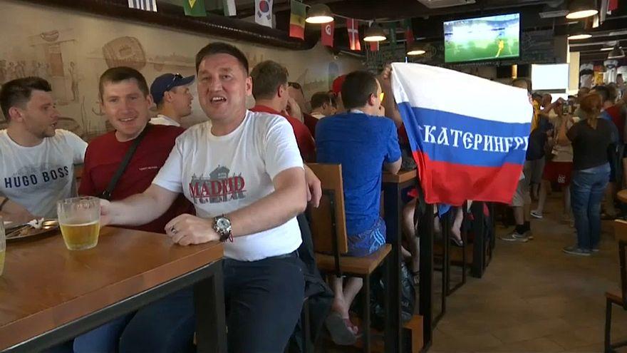 Россия - Уругвай: болельщики готовы
