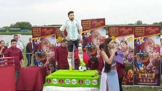 Russians make giant Messi cake to mark star`s 31st birthday.