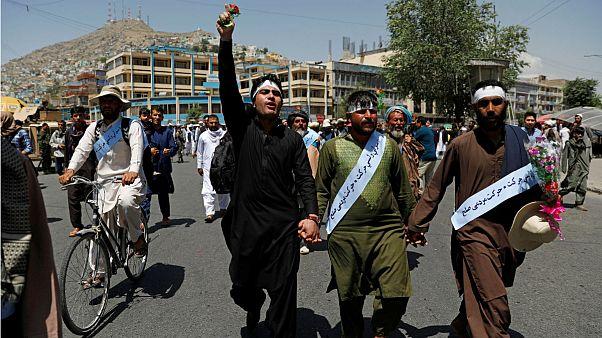 راهپیمایی فعالان صلح محلی در افغانستان