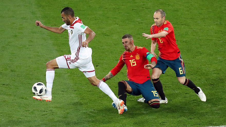 مونديال روسيا: إسبانيا تتأهل إلى دور الـ16 بعد تعادلها مع المغرب 2X2