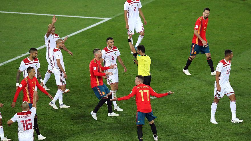 İspanya grup liderliğini Fas'a son dakika golüyle garantiledi