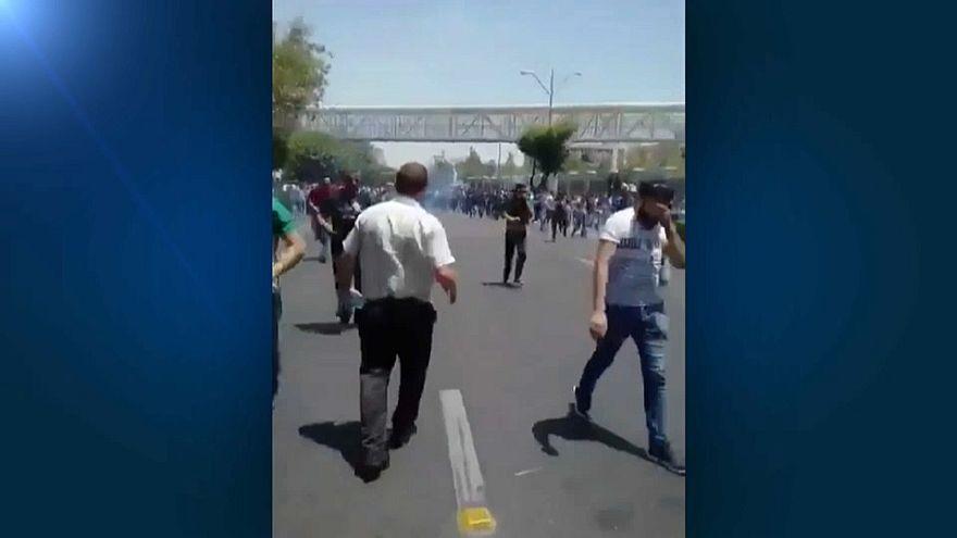 Protestas antigubernamentales en Teherán