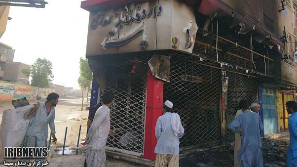 داروخانه منتسب به یکی از مظنونان پرونده «دختران ایرانشهر» به آتش کشیده شد