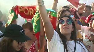Portugueses celebram passagem aos oitavos