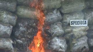Drogenverbrennung in Myanmar