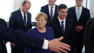 European leaders ahead of a mini-summit on immigration last weekend