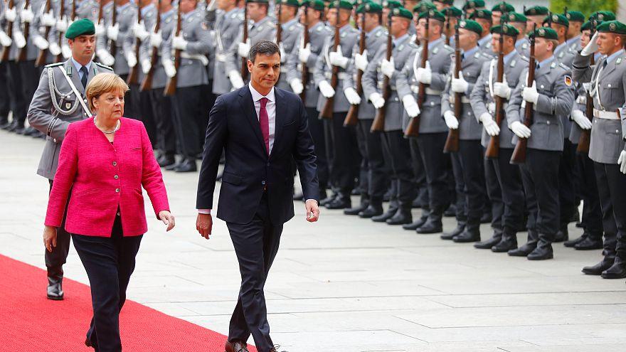 Sánchez y Merkel coinciden en que la respuesta a la inmigración debe ser común