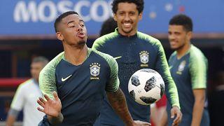 Η ομάδα της Βραζιλίας προπονείται ενόψη του αγώνα με την Σερβία