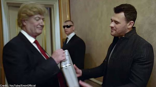 Russian pop star close to Trump enacts 'pee tape' in latest video