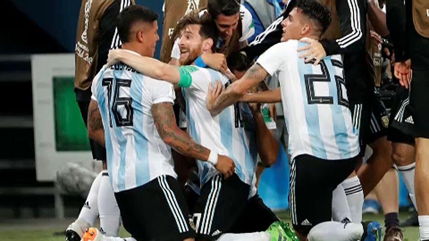 Futball-vb: Argentína továbbjutott