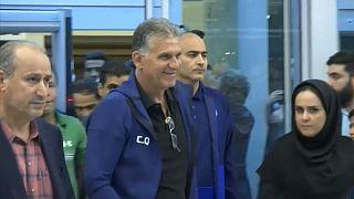 استقبال «قهرمانانه» از کیروش و فوتبالیستهای تیم ملی در فرودگاه امام