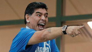 مارادونا از خوشحالی صعود آرژانتین مریض شد