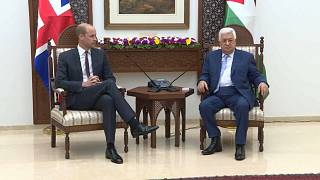 الأمير وليام يلتقي الرئيس محمود عباس