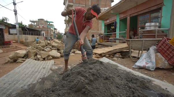 La lenta reconstrucción de Nepal