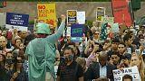 أمريكيون يحتجون ضد تأييد المحكمة العليا حظر السفر على مسلمين