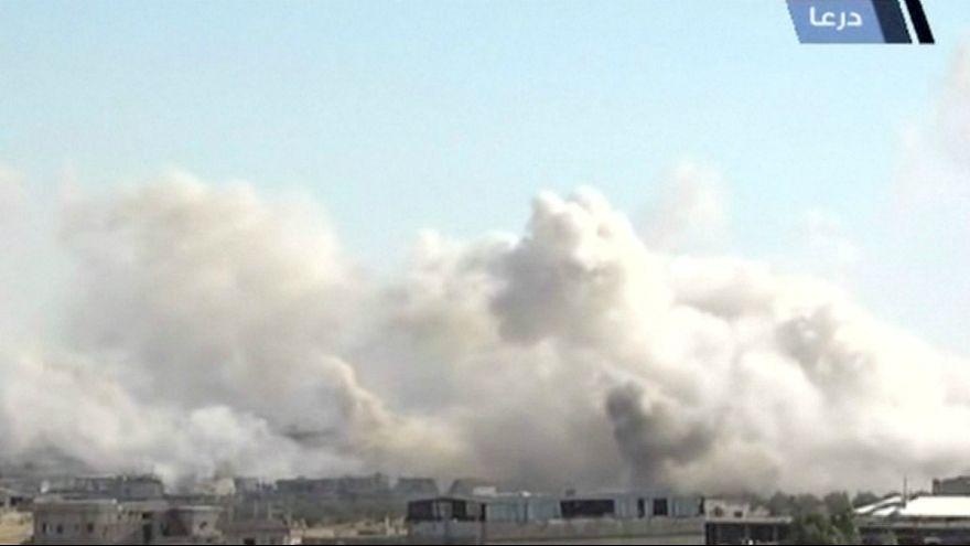 حملات هوایی ارتش سوریه در استان درعا جان ۸ غیرنظامی را گرفت
