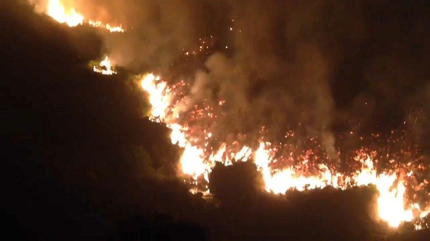 Moorbrand im Norden Englands