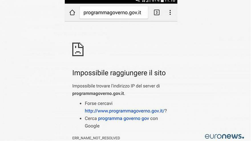 Italy's website that tracks lawmaking is down — and no one knows why