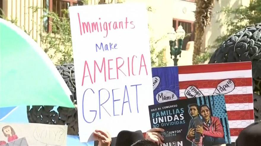 """Etats-unis : manifs contre la """"tolérance zéro"""" de Trump"""