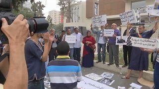 احتجاجات ضد قرار المحكمة التي قضت بسجن الزفزافي بالدار البيضاء