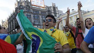 Los colores de Brasil en la Plaza Roja de Moscú