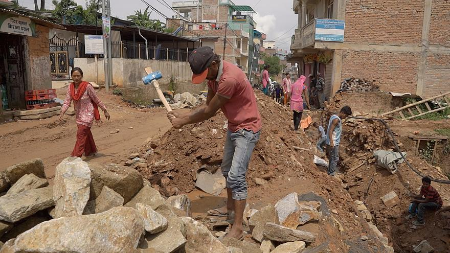 Push to speed up rebuilding three years on from Nepal earthquakes