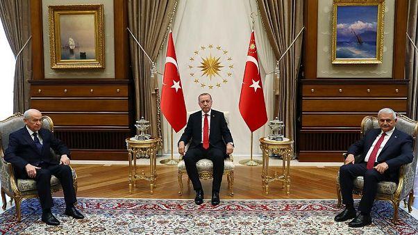 Erdoğan ve Bahçeli seçim sonrası ilk kez bir araya geldi