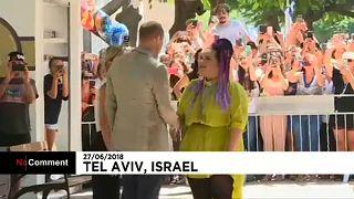 Fiatal izraeli előadókkal találkozott Vilmos herceg