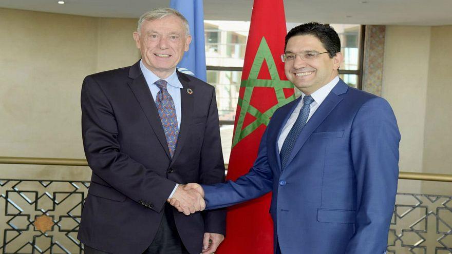وزير الشؤون الخارجية ناصر بوريطة (يمين) والمبعوث الأممي هورست كولر