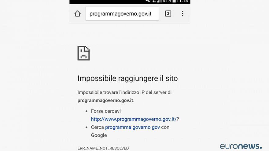 Keiner weiß, warum: Website über Fortschritt italienischer Regierung offline