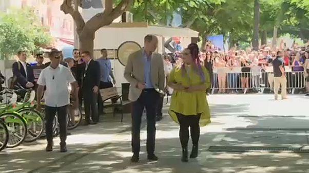 Принц Уильям прогулялся с Неттой Барзилай