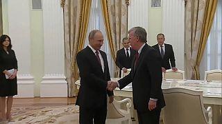 President Vladimir Putin meets John Bolton