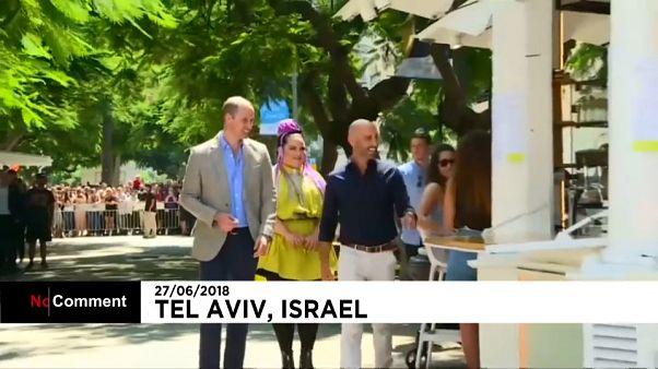 Le Prince William se ballade à Tel-Aviv