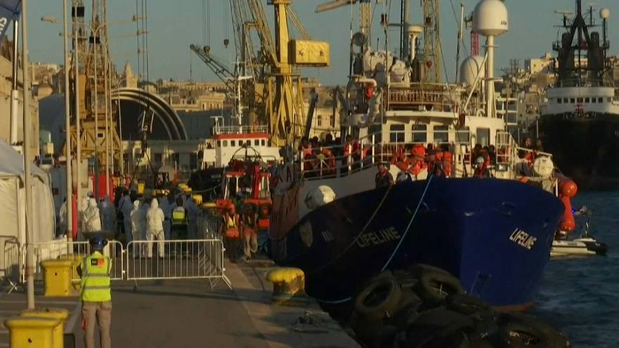 Lifeline, Malta:  iniziate le procedure di sbarco