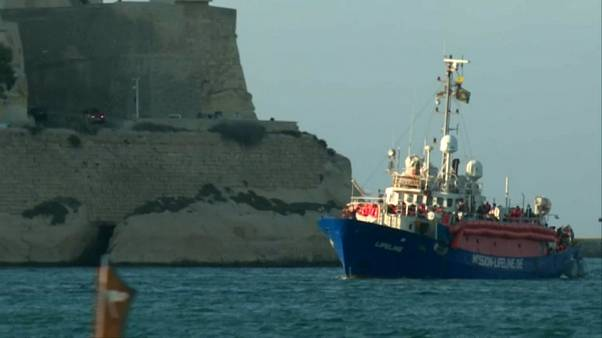 Migrants on Lifeline ship arrive in Malta