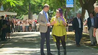 دیدار شاهزاده ویلیام با برنده اسرائیلی یوروویژن