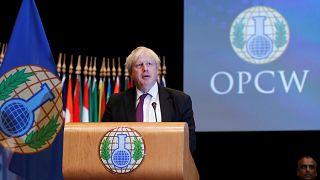 Johnson bei OPCW in Den Haag