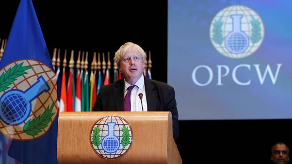 Johnson bei OPCW in Den Haag