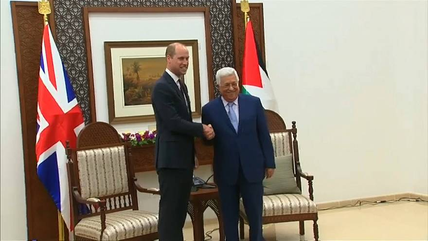 Prinz William trifft Palästinenserpräsident Abbas in Ramallah