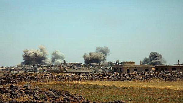 المرصد السوري: مقتل 46 في ضربات جوية في درعا منذ أمس