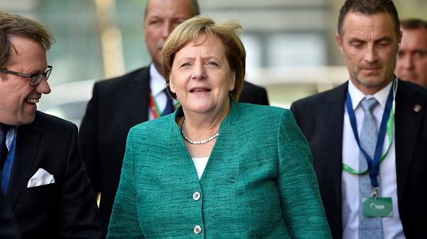 Angela Merkel arriving for the summit