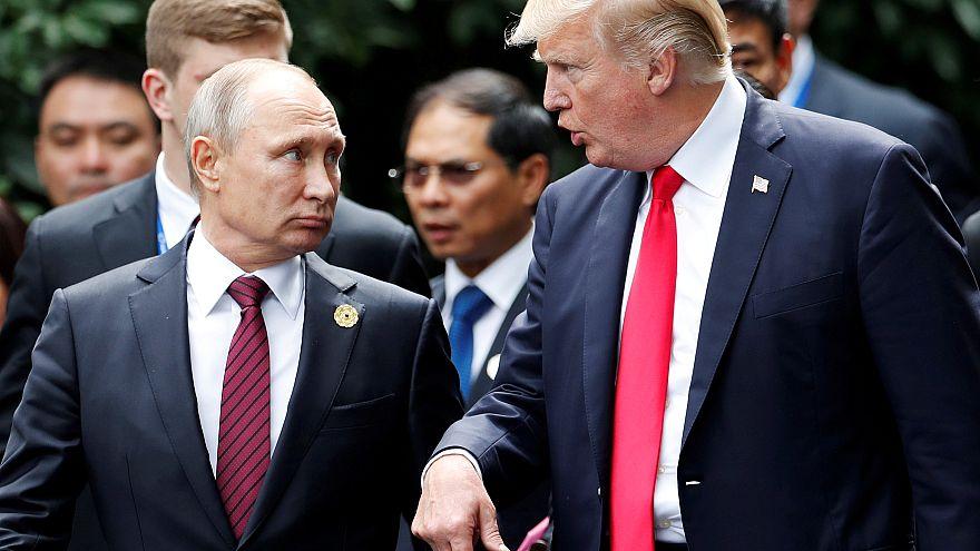 Donald Trump and Vladimir Putin in November 2017