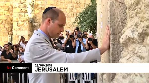 Принц Уильям посетил Стену Плача в Иерусалиме