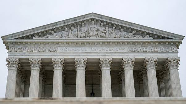 The U.S. Supreme Court is seen as the court nears the end of its term